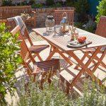 Koçtaş blooma malili 4 kişilik balkon bahçe oturma takımı
