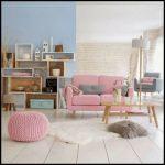 Pembe oturma odası dekorasyonu