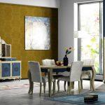 İpek mobilya yemek odasi dekorasyonu mavi