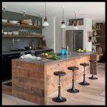 Ahşap amerikan mutfak tezgahı