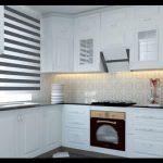 Beyaz renkli mutfak dolapları