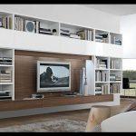 Kitaplıklı tv ünitesi