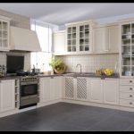 Krem renkli mutfak dolapları
