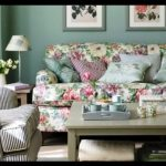 Çiçekli koltuk kumaşı