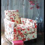 Çiçekli koltuk kumaşları