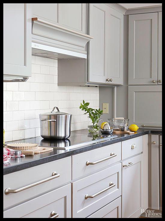 Gri mutfak dekorasyon fikirleri