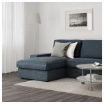 İkea modern köşe koltuk modelleri mavi kıvık