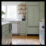 Açık yeşil mutfak örnekleri