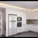 Beyaz modern mutfak tasarımı
