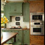 Modern yeşil mutfak