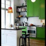 Yeşil beyaz mutfak modelleri