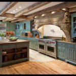 Nostaljik turkuaz mutfak modelleri