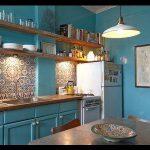 Şirin turkuaz mutfak dekorasyonu