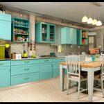 Turkuaz mutfak dekorasyonu