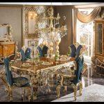 Altın varak yemek odası takımı