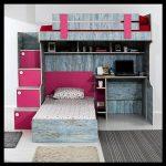 Dekoratif genç odası ranza takımı