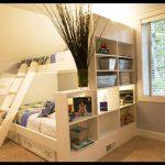 Kitaplıklı genç odası ranza modeli