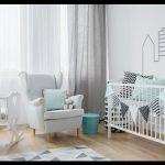 Açık renkli bebek odası takımları