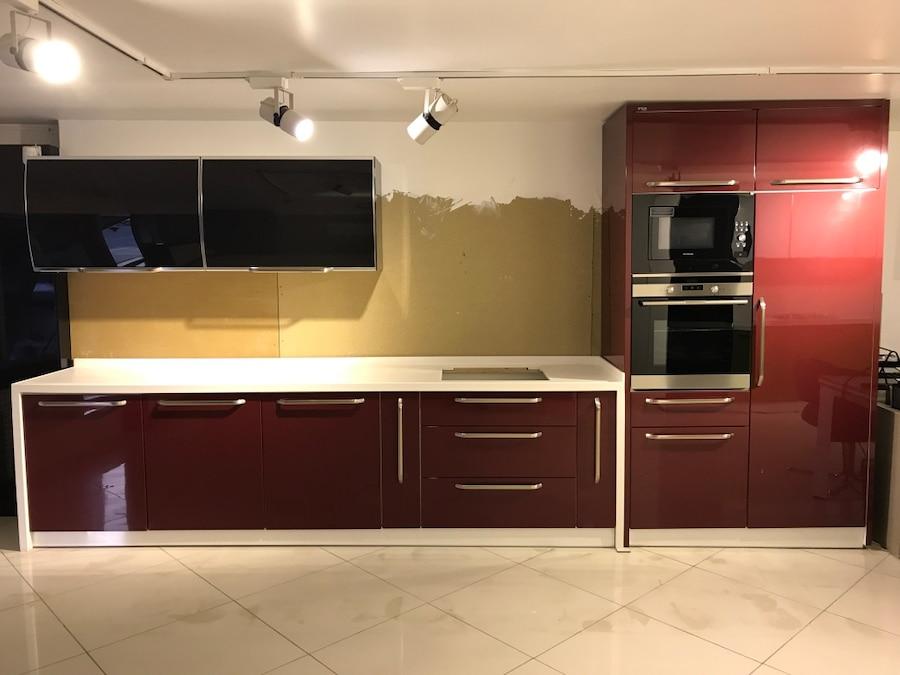 Bordo mutfak dolapları