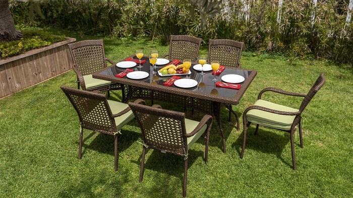 calista dikdörtgen bellona bahçe masa takımı