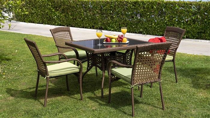 calista kare bellona bahçe masa takımı
