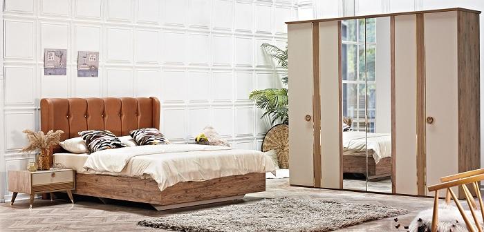 gold kilim yatak odası