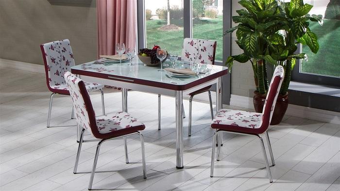 lilyum mondi mutfak masa sandalye takımı