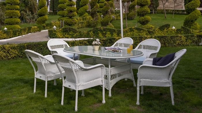 mimoza oval bellona bahçe masa takımı