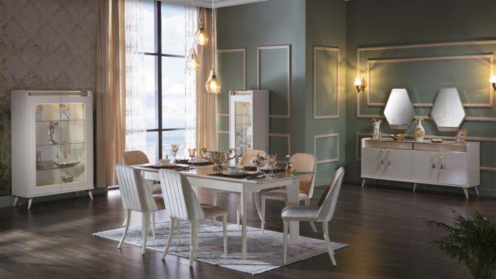 monreal bellona yemek odası takımı