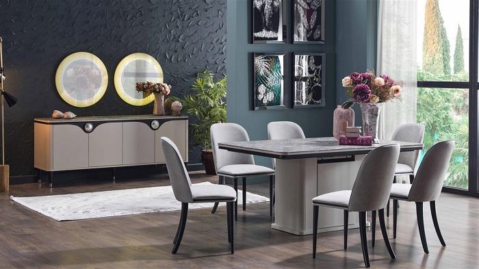 orlando bellona yemek odası takımı