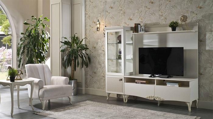 perlino bellona tv duvar ünitesi