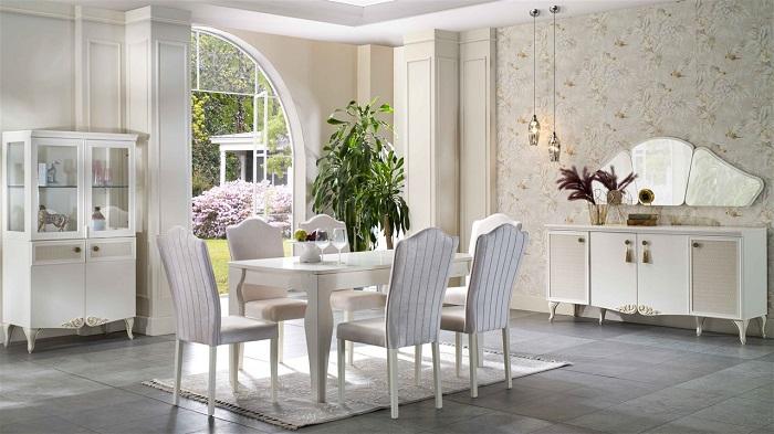 perlino bellona yemek odası takımı
