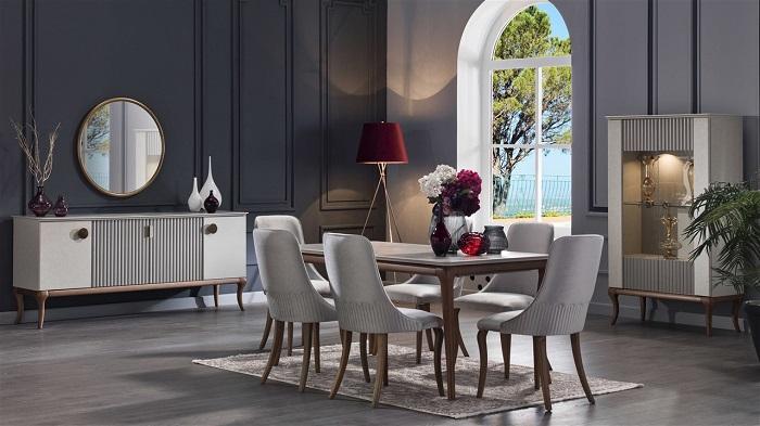 pesaro bellona yemek odası takımı