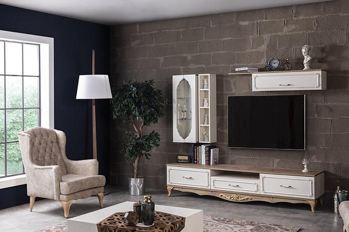 rustik weltew duvar tv ünitesi