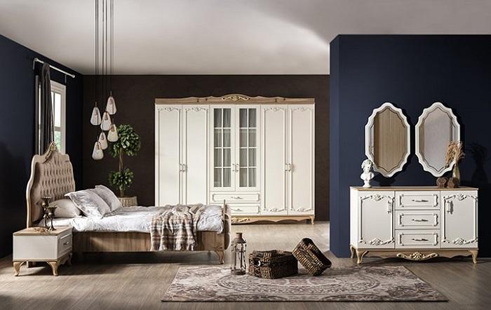 rustik weltew yatak odası