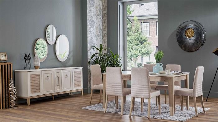 vilza bellona yemek odası takımı