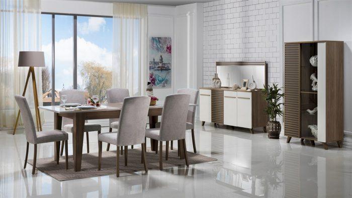 violet bellona yemek odası takımı