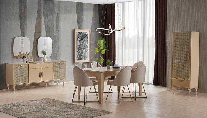 miami ipek mobilya yemek odası takımı