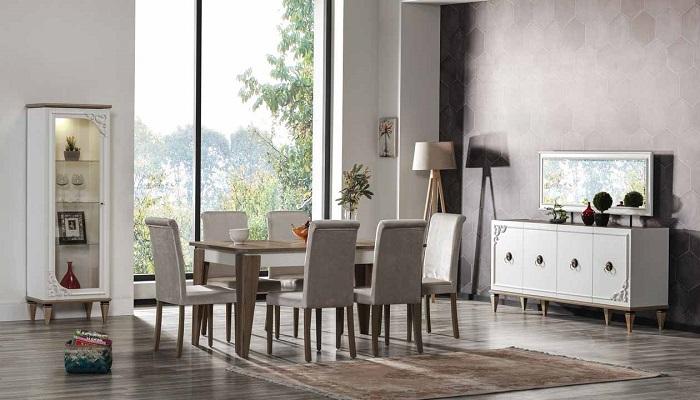 milena ipek mobilya yemek odası takımı
