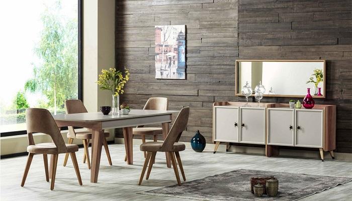 valencia ipek mobilya yemek odası takımı