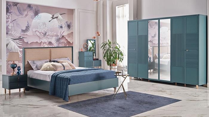 aren mavi istikbal yatak odası takımı