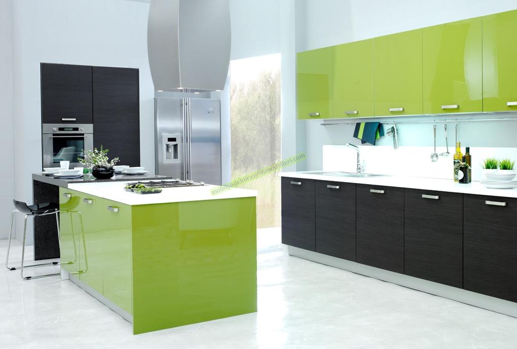 Açık Yeşil kelebek Mutfak modeli