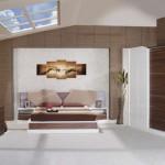 Butterfly modern ahşap yatak odası