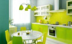 Açık ve Koyu Yeşil Mutfak Dolapları Modelleri