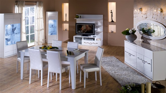 Kristal yemek odası takımı