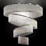 Minik kristal taşlardan dört halkalı kristal taşlı avize modeli