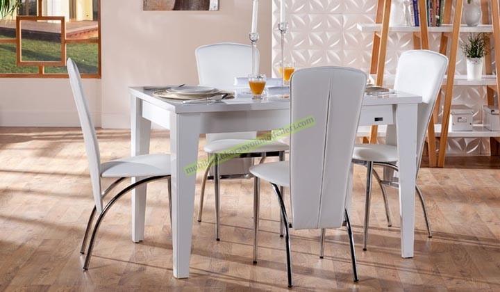 Mondi zenith mutfak masası takımı beyaz