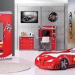 Red car genç çocuk yatak odası takımı