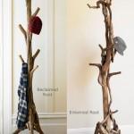 Ağaç şeklinde ayaklı askılık modeli