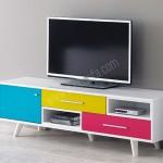 renkli modern tv ünitesi modelelleri